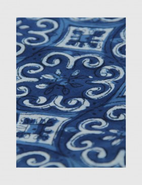 Indigo Dabu Print Fabric 03 (per meter)