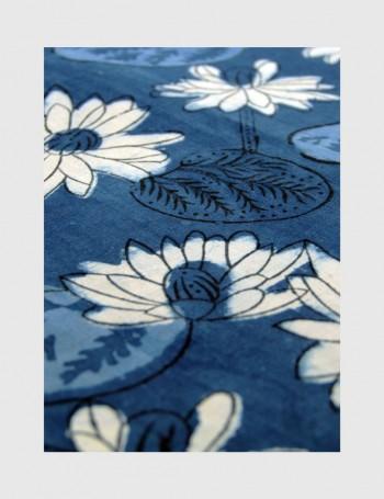 Indigo Dabu Print Fabric 01 (per meter)