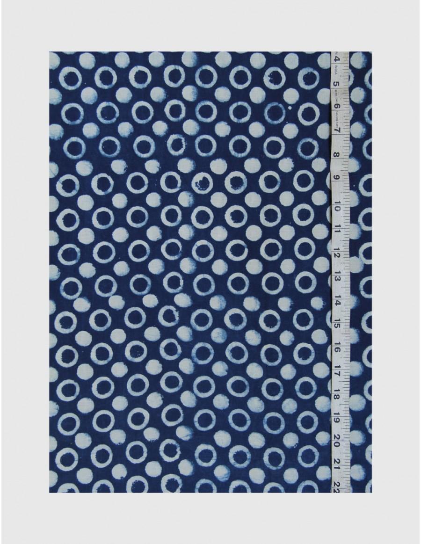 Indigo Dabu Print Fabric 07 (per meter)