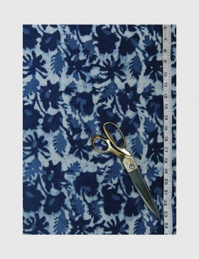 Indigo Dabu Print Fabric 04 (per meter)