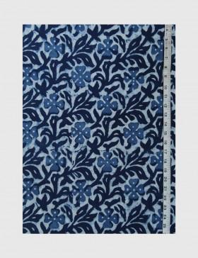 Indigo Dabu Print Fabric 05 (per meter)